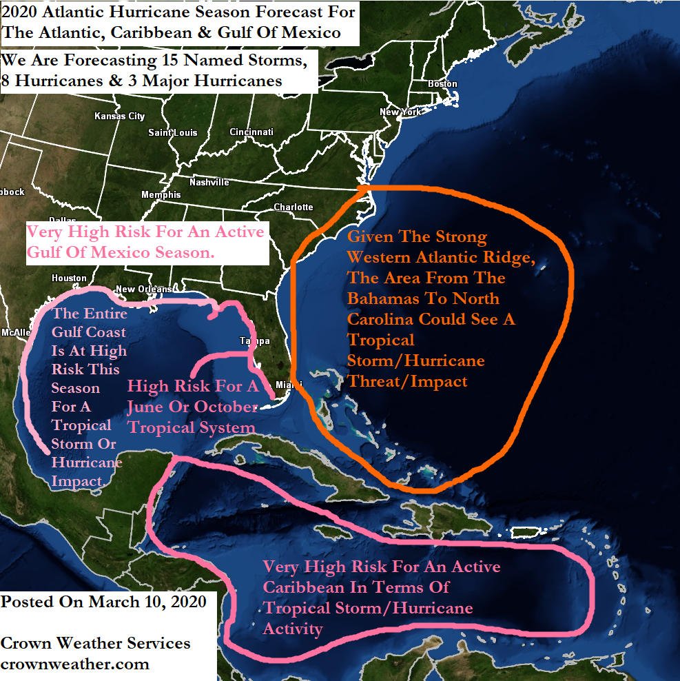 2020 Atlantic, Caribbean & Gulf Of Mexico Hurricane Season ...